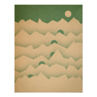 Mountain Moon Rising Poster