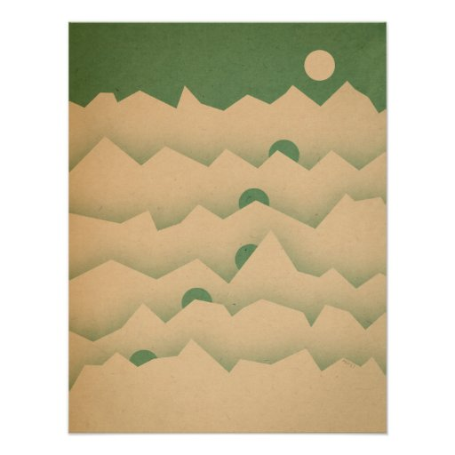 Mountain Moon Rising Posters