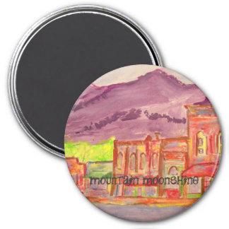 mountain moonshine 7.5 cm round magnet