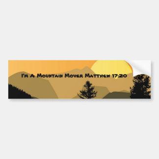 Mountain Mover Bumper Sticker Car Bumper Sticker