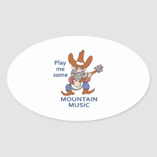 MOUNTAIN MUSIC OVAL STICKERS