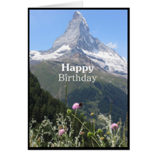 Mountain nature photography Happy Birthday card