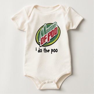 mountain of poo baby bodysuit