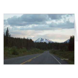 Mountain on the Alaska Highway note card