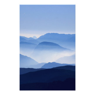 Mountain Passes in Clouds and Mist Customised Stationery