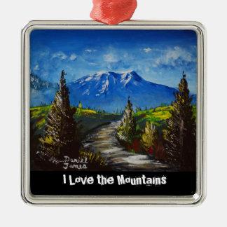 Mountain Path Christmas Ornament
