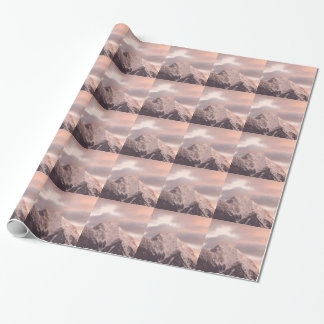 Mountain peak at sunrise wrapping paper