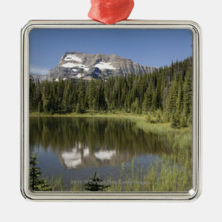 Mountain Peak Reflected In A Lake Christmas Ornament