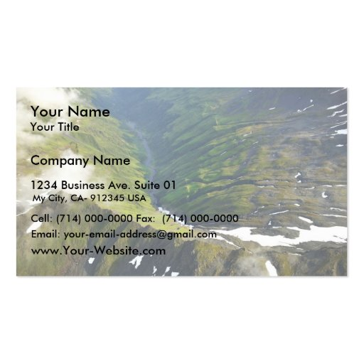Mountain Peaks and River Valley - Aerial View Pack Of Standard Business Cards