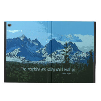 Mountain Peaks digital art - John Muir quote