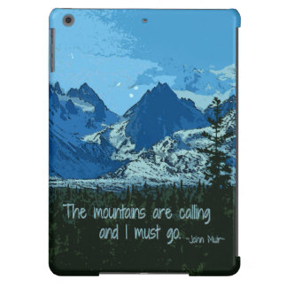 Mountain Peaks digital art - John Muir quote iPad Air Covers