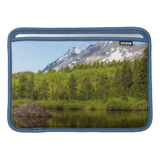 Mountain Peaks Reflect Into A Beaver Pond Sleeve For MacBook Air