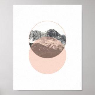 Mountain Photo Poster | Minimal Pink Art