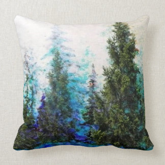 MOUNTAIN PINE TREES FOREST LANDSCAPE CUSHION