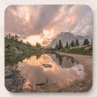Mountain Pond coaster set
