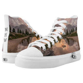 Mountain Pond custom monogram high-top shoes