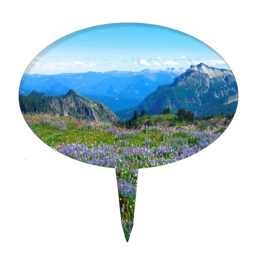Mountain Purple Heather Haze Cake Topper