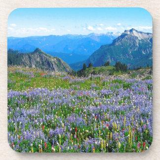 Mountain Purple Heather Haze Drink Coasters