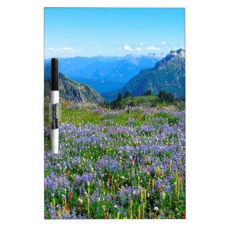 Mountain Purple Heather Haze Dry Erase White Board
