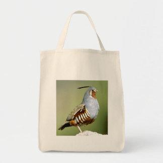 Mountain Quail Grocery Tote Bag
