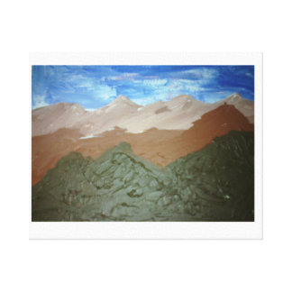 Mountain Range Art Oil Painting Stretched Canvas Prints