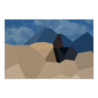 Mountain Range - Art On Canvas Poster