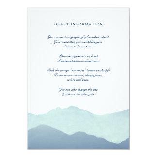 Mountain Range Insert Card