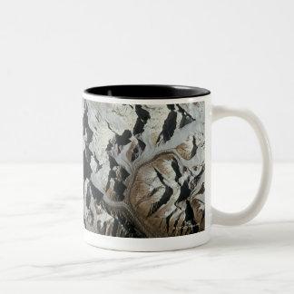 Mountain Range on Earth Two-Tone Coffee Mug