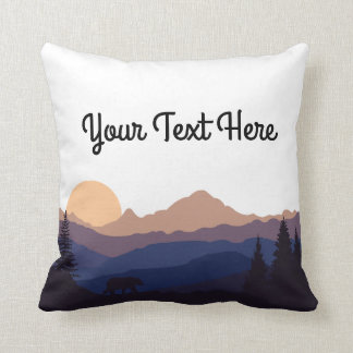 Mountain Range Throw Pillow