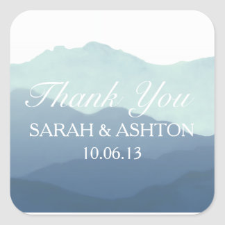 Mountain Range Wedding Favor Stickers