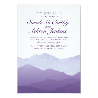 Mountain Range Wedding Invite