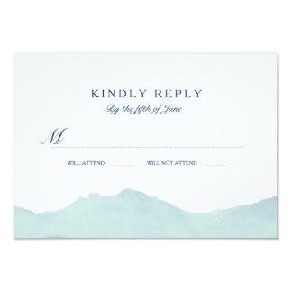 Mountain Range Wedding RSVP Card