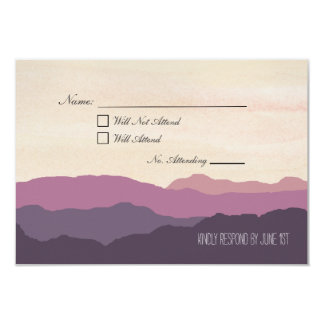 """Mountain Range"" Wedding RSVP Postcard 3.5""x5"""