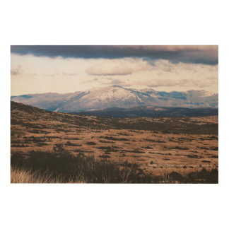 Mountain Range Wood Print