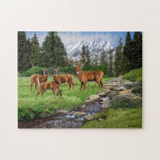 Mountain Red Deer Safari Jigsaw Puzzle