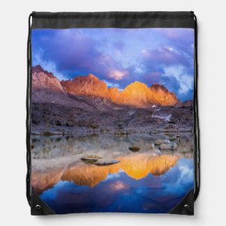 Mountain reflection, California Drawstring Bag