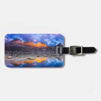 Mountain reflection, California Luggage Tag