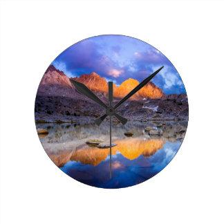 Mountain reflection, California Wall Clock