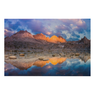 Mountain reflection, California Wood Wall Decor
