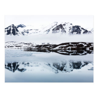 Mountain reflections, Norway Postcard