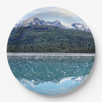 Mountain Reflections Paper Plate 9 Inch Paper Plate