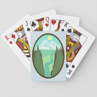 Mountain River Sunrise Playing Cards