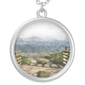 MOUNTAIN ROAD SILVER PLATED NECKLACE