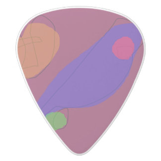 Mountain Road White Delrin Guitar Pick