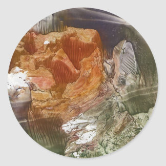 Mountain Round Sticker