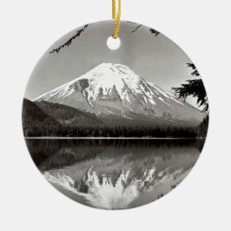 Mountain Saint Helens And Spirit Lake Christmas Ornament