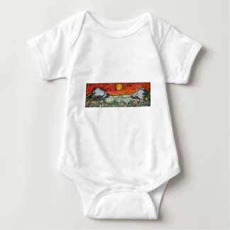 mountain scene baby bodysuit