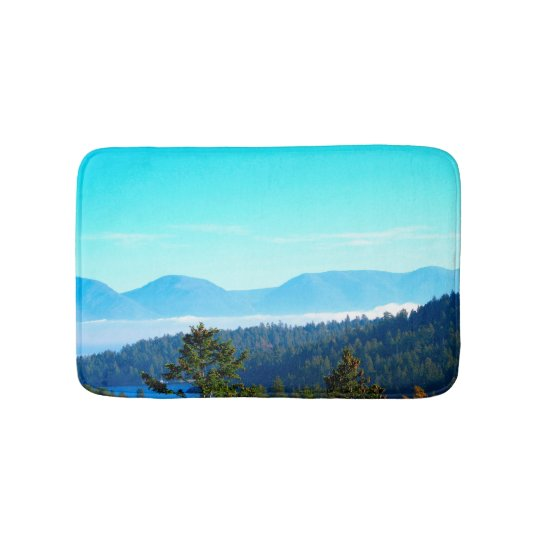 Mountain Scene Bath Mat
