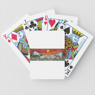 mountain scene bicycle playing cards
