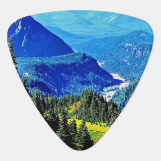 Mountain Scene, Groverallman Guitar Pick